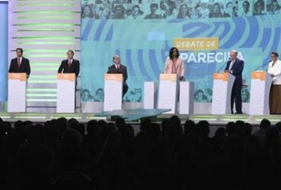 Sete candidatos à Presidência da República participaram do debate na TV Aparecida, na noite de quinta-feira (20)