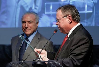 Ministro de Estado da Agricultura, Pecuária e Abastecimento, Blairo Maggi em abril deste ano com o presidente Michel Temer
