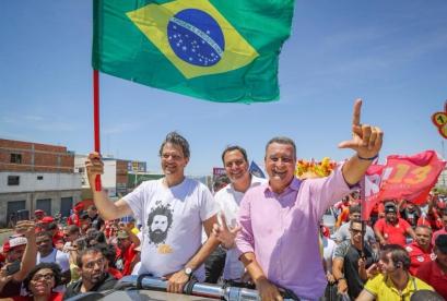 Fernando Haddad esteve em Petrolina e Juazeiro do Norte, em Pernambuco, no início desta semana
