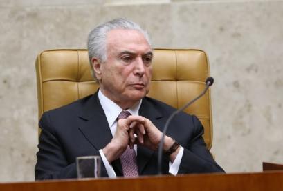 O presidente Michel Temer durante solenidade de posse do novo presidente do Supremo Tribunal Federal (STF), ministro Dias Toffoli