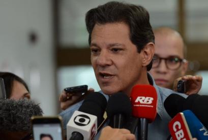 O candidato do PT à Presidência da República, Fernando Haddad.