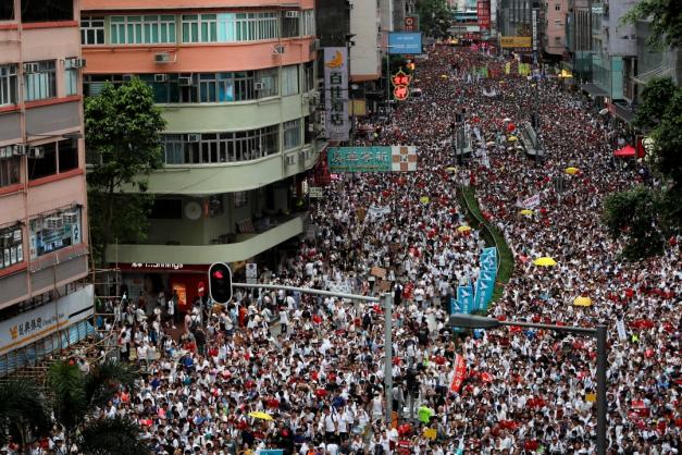 Protesto em Hong Kong